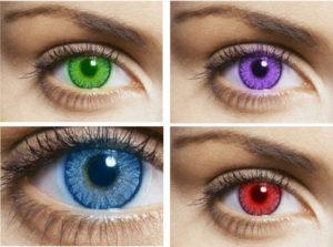 Цветные контактные линзы 1